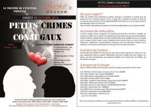 Petits crimes conjugaux, une pièce d'Éric-Emmanuel Schmitt