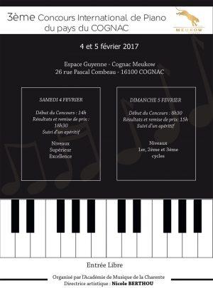 3eme Concours International de Piano du Pays du Cognac