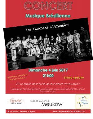 """«Les Cariocas d'Aquitao"""" le dimanche 4 juin à l'espace Guyenne."""