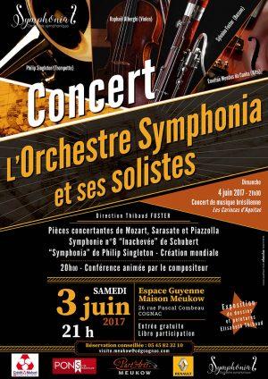 Venez découvrir l'Orchestre Symphonia le samedi 3 juin à l'Espace Guyenne.